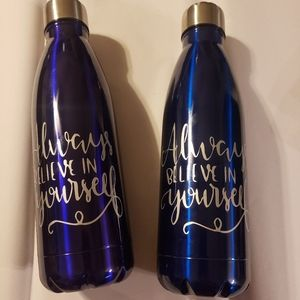 Water bottle with quote